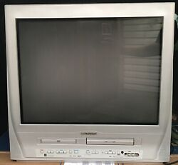 Sylvania 27 Inch Pure Flat TV DVD VCR Combo Model 6727FDE Retro Gaming Tested $179.95