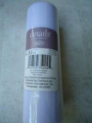 """Details Accessories White Tulle 6"""" X 8 Yds. $2.39"""