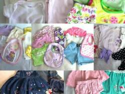 Lot Huge 32 pc Spring Summer Girls Baby Clothes 0 3 mo Carters Childrens Place $69.95