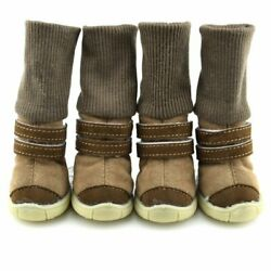 4Pcs Set Pet Dogs Puppy Shoes Small Large Anti slip Mesh Winter Boots Booties US $10.99
