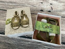 Joyfolie DELIA IN OLIVE sz 12t Boho Girls fringy Sandals Fall Shoes $56.00
