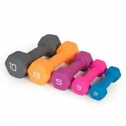 2 3 6 5 8 10 16 20 lb Pair Neoprene Hex Dumbbell Set Hand Weights FREE SHIPPING $48.59