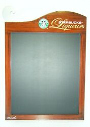 New Old Stock Starbucks Commercial In Store Liqueurs Menu Chalk Board 2005