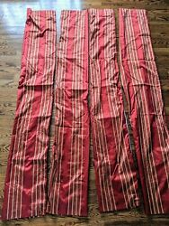 Set of 4 Target Casual contemporary Home Curtains stripes Red $12.99