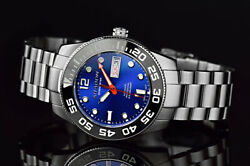 ARAGON Highly Revered 42mm DiveMaster 20ATM Sapphire Blue AUTOMATIC Watch A198BL $288.88