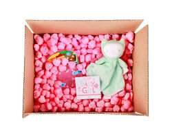 FunPak Packing Peanuts Pink Heart Shape 1.5 cu ft bag Compostable Biodegradable $19.95