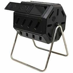 FCMP Outdoor IM4000 Tumbling Composter 37 Gallon Black Composting Bins Garden $124.99