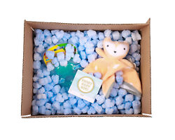 FunPak Packing Peanuts Blue Heart Shape 1.5 cu ft bag Compostable Biodegradable $19.95