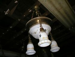 Antique light fixture with Milk glass shades $175.00