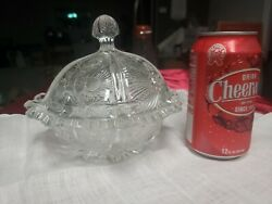Antique Crystal Pressed Glass Lidded Candy Dish $37.40