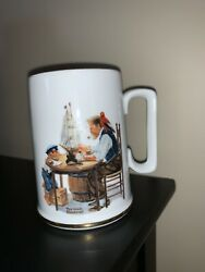 "Antique ""For A Good Boy"" Norman Rockwell Mug With Writing $8.99"
