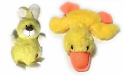 """Dog Toys Squeaky Puppy Chew Plush Toy Set 9"""" Rabbit and 12"""" Duck Dog Toy $15.16"""