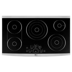 LG STUDIO LSCE365ST 36quot; Radiant Electric Smooth Cooktop Stainless Steel 5 Burner $699.99