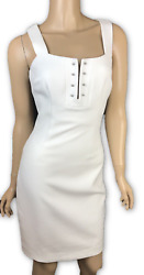 Kendall Kylie Dress Size XS White Pierced Sleeveless Sheath MSRP $228