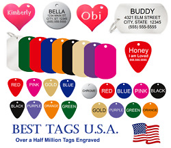 Dog tags personalized Dog Cat Pet ID Deep Engraved gt;gt;TAGS From $2.86 Shipped lt;lt; $3.95