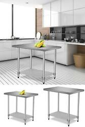 Commercial 24quot; x 36quot; Stainless Steel Food Prep Work Table Kitchen Restaurant CE