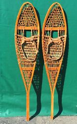 GREAT Alaskan SNOWSHOES 54x11 w Leather Bindings SNOW SHOES $92.49
