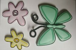 Cute Butterfly And Flower Wall Decorations For Girl#x27;s Room $5.99