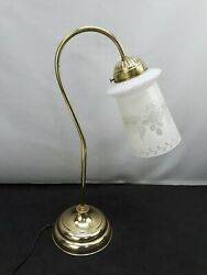 Brass Bankers Lamp Piano Desk Light Library Student Curved Arm Gooseneck $57.34