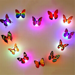NEW 3D Butterfly LED Light Art Design Decal Wall Stickers Home Mural Room Decor $1.55