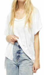 Free People Under the Sun T shirt Shirt White Women Size M New With Tags $24.99