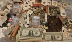 ESTATE SALE OLD US COINS SILVER UNCIRCULATED LOT VINTAGE COLLECTION GOLD $36.58