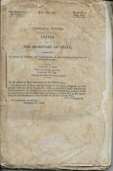 J C Calhoun Commercial Systems Letter of the Secretary of State 1845