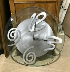 24quot; Contemporary Wall Clock with Abstract Numbers $65.00