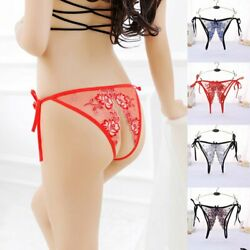 ☆USA☆ Sexy Women Lace Thong G string Panties Lingerie Underwear Crotchles T back $6.47