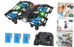 GELO H56 Portable Mini Drone for Kids with Light Up LEDs RC Small Quadcopter wi $37.83