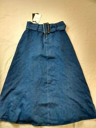 Who What Wear Skirt Women Blue Size 2 New with tags $15.85