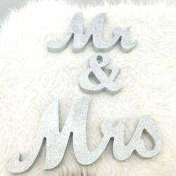 Mr amp; Mrs Sign Glitter Wedding Decoration Party Table Wood $32.00