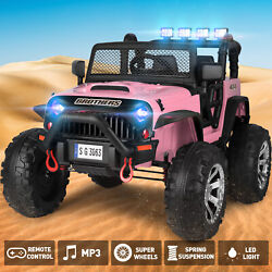 Pink Electric 12V Battery Kids Ride on Truck Car Jeep Toys MP3 LED w Remote Girl $251.99