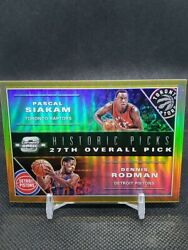 2019 20 Contenders Optic Historic Picks Siakam Rodman Gold 10 $150.00
