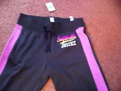 justice size 14 black joggers Softball nwt $9.99
