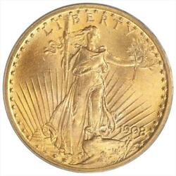 1908 St. Gaudens $20 Gold Double Eagle PCGS MS 64 No Motto Variety OGH $2459.99