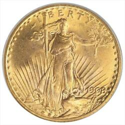 1908 St. Gaudens $20 Gold Double Eagle PCGS MS64 No Motto Variety OGH $2459.99
