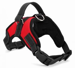 No Pull Dog Pet Harness Adjustable Control Vest Dogs Reflective XS S M XXL Red $15.15