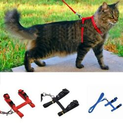 Pet Dogs Cats Adjustable Breathable Vest Harness Kittens Chest Strap with Leash $8.54