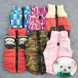Small Pet Dogs Cat Warm Padded Vest Harness Sweater Jacket Puppy Apparel Clothes $7.19