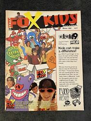 Rare Totally Fox Kids Magazine Winter 1997 Power Rangers Turbo Trading Cards $19.99