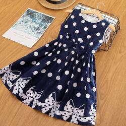 Baby Kids Polka Dots Birthday Party Dress Girl Princess Casual Children Clothes $11.98