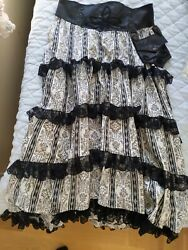 Hot Topic Steampunk Trailing Step in Time Skirt Costume XL NWOT $99.00