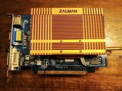 PNY GeForce 7300 GT 256mb TV Out PCIe Video Card Zalman ZM80A Passive Cooler $35.00