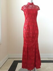 Chinese Wedding Party Traditional Dress Cheongsam Gown Size L C38 W30 $89.99