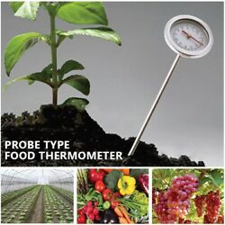 Accurate Garden Backyard Long Stem Compost Soil Thermometer Stainless Steel Tool $29.91