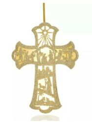 Holiday LaneJoy To The World Paper LED Cross Ornament $7.89