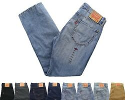 Levi#x27;s Men#x27;s 502 Blue Jeans Tapered Leg Denim Jean Pants $29.99