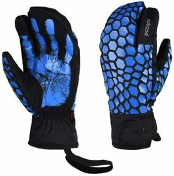 LANNIU Ski Gloves Winter Gloves Men Waterproof 3 Finger Mittens Blue Large $24.99