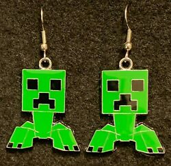 MINECRAFT CREEPER Earrings Stainless Hook New Gaming Xbox E $4.99